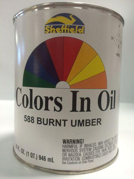 SHEFFIELD BRONZE COLORS IN OIL QT BURNT UMBER