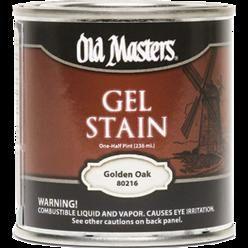 OLD MASTERS GEL STAIN QT GOLDEN OAK 80204