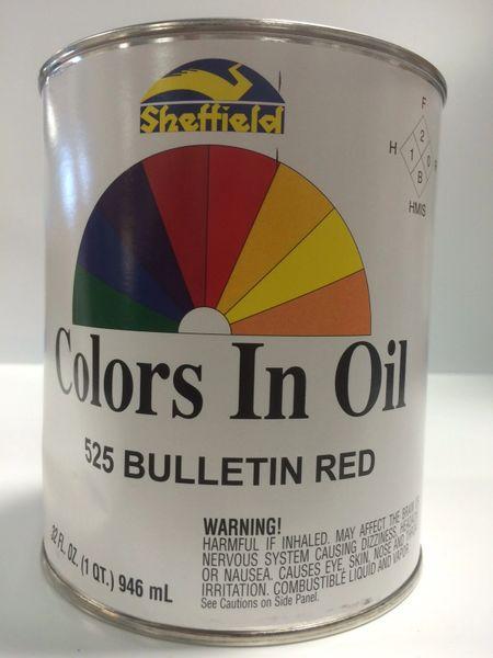 SHEFFIELD BRONZE COLORS IN OIL QT BULLETIN RED