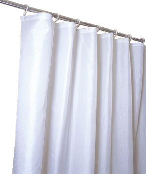Simple White Shower Curtain Liner