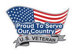 Proud To Serve - Decal