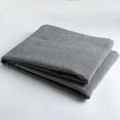 Gray* 100% wool twill fabric - per 1/2 yard