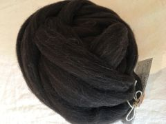 Black Combed Top - Natural Color 4 oz Wool Roving