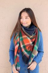 Fall Navy Blanket Scarf