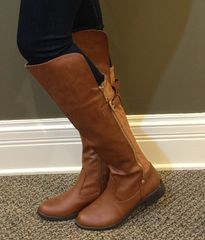 Over-the-Knee Buckle Accent Boot