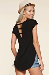 Open Back Cap Sleeve T