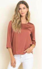 Brick Hi Low Blouse