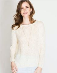 Lightweight cream sweater
