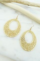 Gold Detailed Hoop Earring