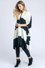 Wide Stripe Oversized Cardigan