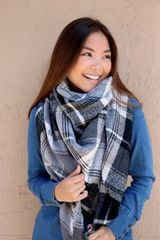 Perfect Plaid Blanket Scarf