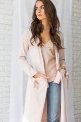 Long Pink Open Cardi