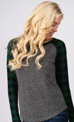 Cozy Plaid Hunter Green Top