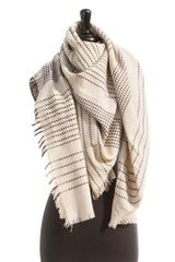 Cream Basic Blanket Scarf
