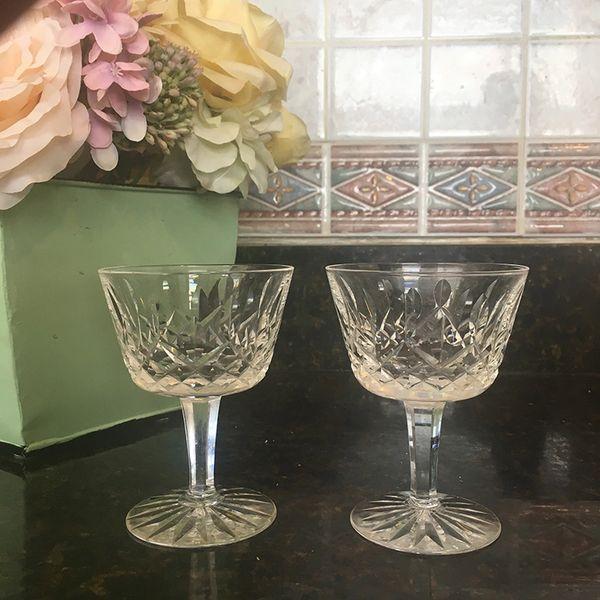 Waterford Crystal Lismore Wine `Glasses-Set of 2