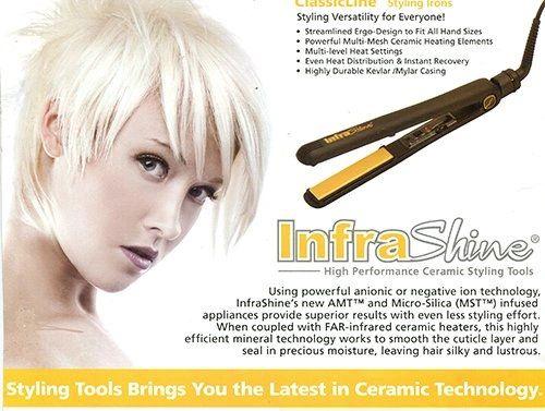 Infrashine Original Medium Flat Iron Medium 1 inch, Black