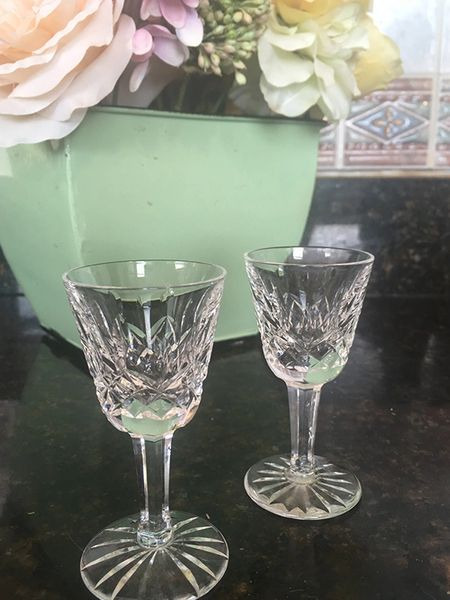 Waterford Crystal Lismore Liquor Glasses-Set of 2