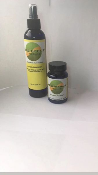 Healthy Hair Solution Leave in Treatment and Supplement Duo
