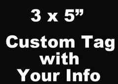 "SR Custom Tag 3"" x 5"""