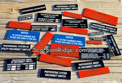 Solar Tag Label Sample Pack