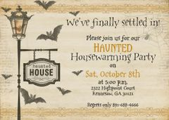 Halloween Housewarming Invitation
