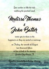 Ocean View Wedding Invitation