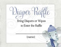 Diaper Raffle Winter Elephant