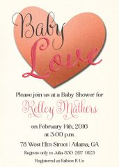 Baby Love Shower Invitation
