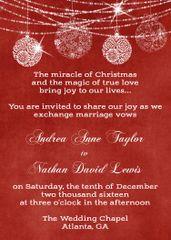 Red Christmas Wedding Invitation