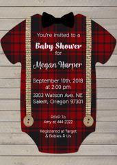 Rustic Lumberjack Baby Shower Invitation