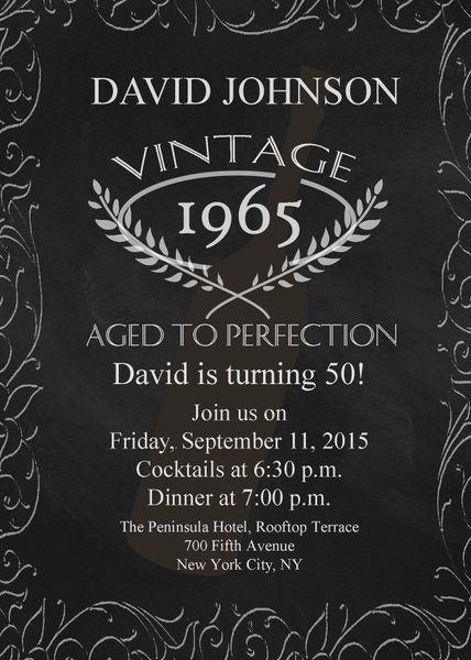 aged to perfection birthday invitation sugar spice invitations