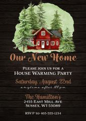 Rustic Cabin Housewarming Invitation