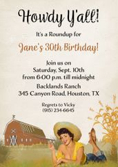 Howdy 50th Birthday Invitation