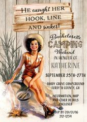 Camping Bachelorette Weekend Party Invitation