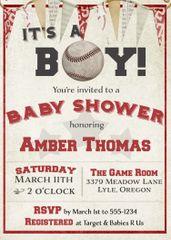It's a Boy Baseball Baby Shower Invitation