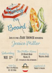 Baby On Board Shower Invitation