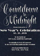Countdown Till Midnight New Year Invitation