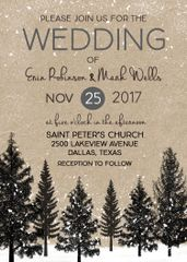 Snow Forest Wedding Invitation