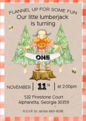Little Lumberjack Birthday Invitation