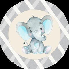 Elephant Blue Stickers