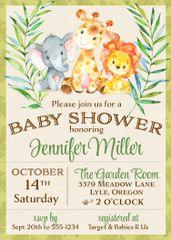 Jungle Baby Shower Invitation