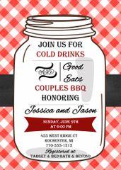 Couples BBQ Mason Jar Bridal Shower