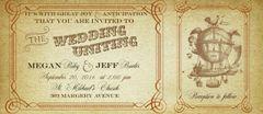 Steampunk Hot Air Balloon Wedding Invitation