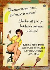New Home Pin Up Girl Housewarming Invitation