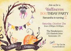 Halloween First Birthday Invitation