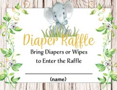 Diaper Raffle Elephant Gender Neutral