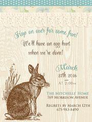 Rustic Easter Brunch Invitation