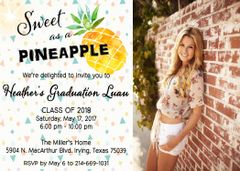 Sweet as a Pineapple Graduation Invitation