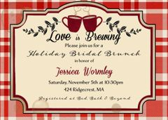 Red Love is Brewing Coffee Bridal Shower Invitation