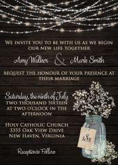 Baby's Breath Wedding Invitation